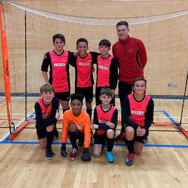 U12s are County Cup Futsal Champions