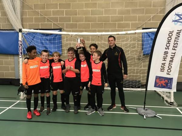 U10 boys win the ISFA Futsal Competition